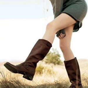 Frye slouch veronica 7 boots strap engineer
